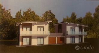 Nuova villa bifamiliare, disposta su due livelli