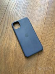 Cover Silicone Apple iPhone 11 Pro Max Blu Notte