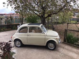 Fiat 500 F del 1966 d'epoca restaurata beige