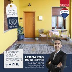 PADERNO D'ADDA,TRE LOCALI IN CORTE SENZA SPESE CON