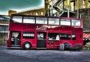 Autobus Inglese Double Decker per Street Food