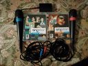 Set microfoni + 2 giochi SingStar (ps3)