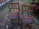 """Sedie in legno """"apri e chiudi"""" anni '50 '60 (N°2)"""