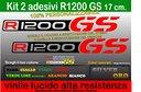 Adesivi R1200GS, F800GS, GS, Adventure, bmw