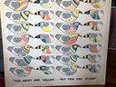 Dipinto su tela di L. Wilcox 110 x 97 - uccelli -