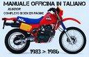 Manuale Officina Honda XL 600 R 1983 > 1986