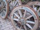Attrezzi agricoli ruote in legno
