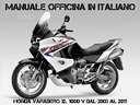 Manuale Officina Honda Varadero 1000 2003 al 2011
