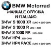 Manuale Officina BMW S 1000 XR R RR HP4 2013-2019