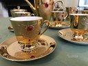 Servizio da caffè oro e pietre topazio