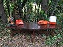 Tavolino basso salotto anni 70 svedese divano