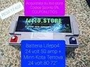 Batteria Litio Lifepo4 24 volt 12v 36v litio.store