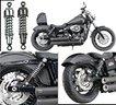 Ammortizzatori Neri Ribassati Harley Davidson