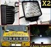2 FARETTI LED Supplementari per FIAT 4X4 OFF ROAD