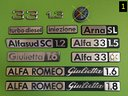 Scritte Alfa,Lancia,Innocenti,Autobianchi,Coriasco