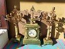 Antico orologio a pendolo parigina in onice