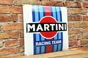 Insegna cartello smaltata MARTINI RACING TEAM