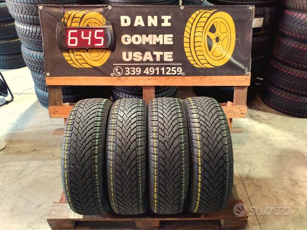 4 Gomme Usate 195 65 15 INVERNALI 80% CONTINENTAL