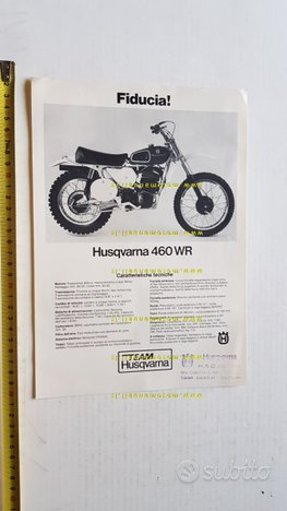 Husqvarna 460 WR Cross 1973 depliant ITALIANO moto