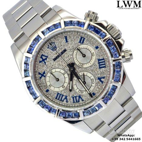 ROLEX Daytona 116520 diamonds dial blue bezel Full