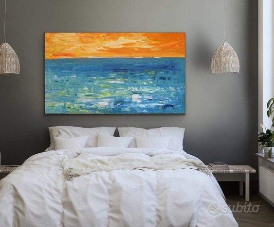 Quadro moderno astratto dipinto mare arte grande