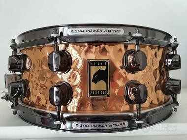 Mapex black panther snare copper hammered series