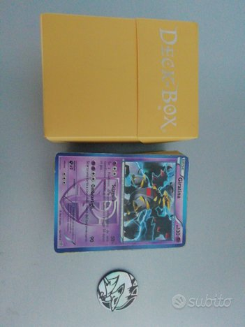 Carte pokemon  medaglia pokemon deck Box
