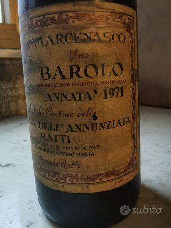 Marcenasco vino Barolo annata 1971