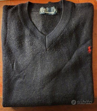 Ralph lauren maglione blu tg. m originale