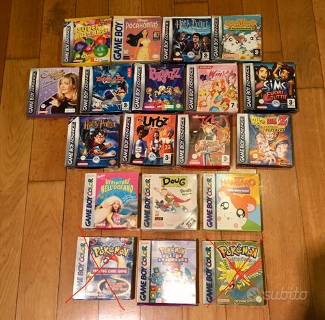 Giochi Game Boy Boxati titoli vari