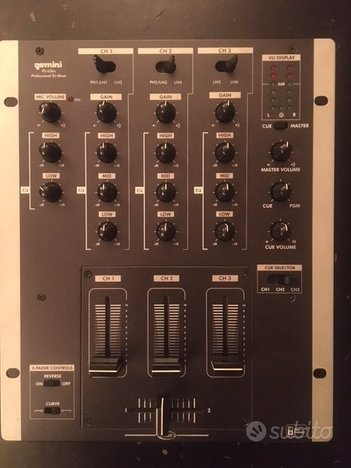 Mixer dj Gemini PS-626x e consolle Pioneer Cdj 200