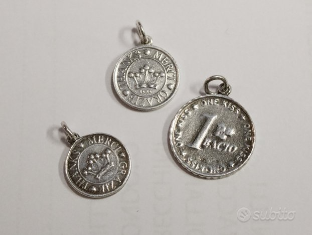 Dodo ciondoli monete moneta argento
