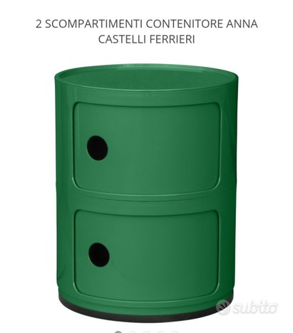 Kartell contenitore a 2 scomparti di Anna Castelli,Kartell