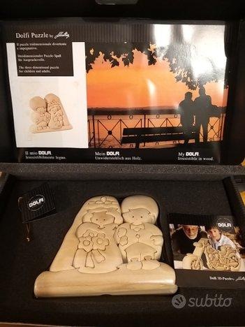 Puzzle 3d Sposi in legno naturale- Dolfi- NUOVO