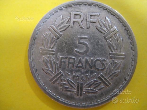 5 Franchi Francesi 1945 Lavrillier Rif. 214