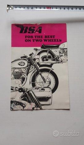 BSA catalogo produzione moto 1968 depliant epoca