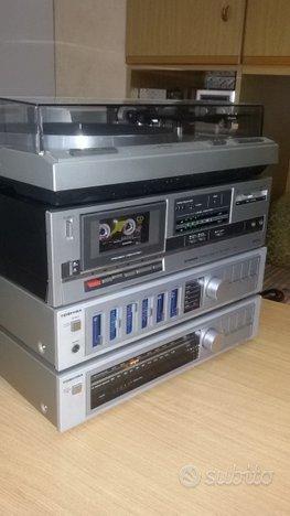 Impianto stereo hi fi vintage coordinato