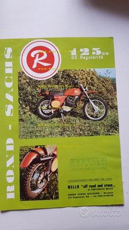 Rond SACHS GS 50-125 Regolarità 1973 depliant moto