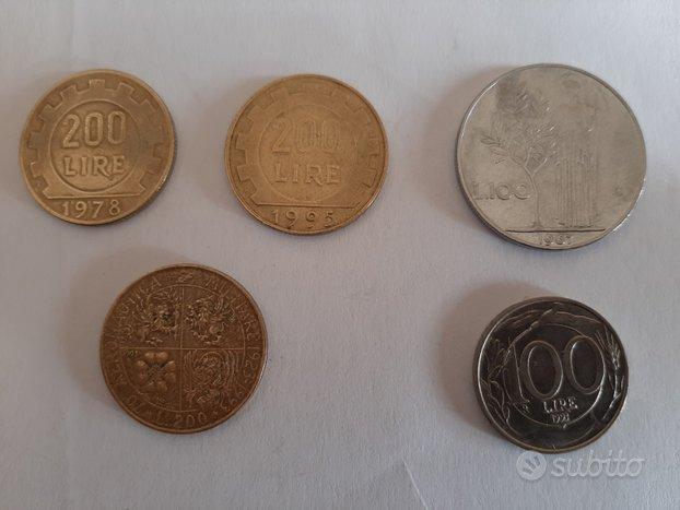 Italia Monete da 100 e 200 lire