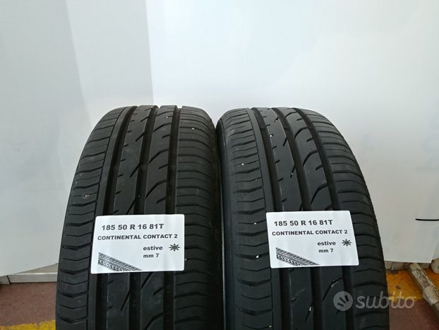 Gomme estive 185 50 r 16 continental usate