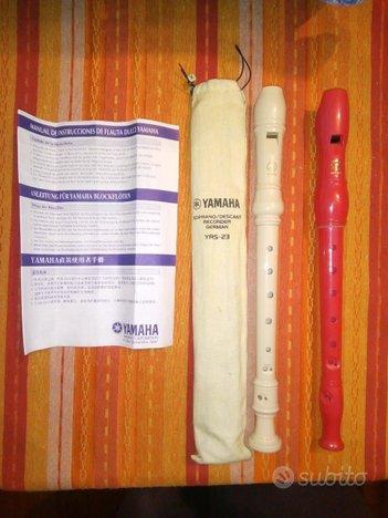 Flauti dolci Yamaha e Carrara