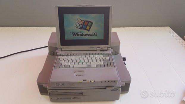 Computer toshiba portege 660 cdt + docking + desk