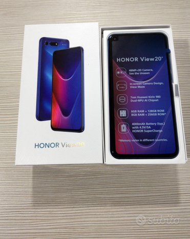 Honor View 20 - 256GB - 8GB Ram - Dual Sim