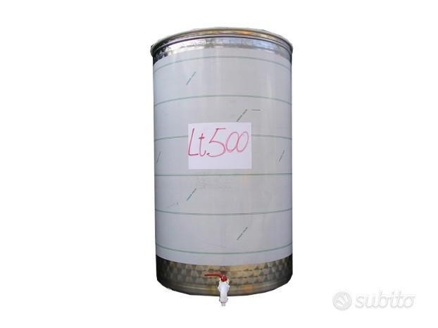 Serbatoio Botte Acciaio Inox Aisi 316 530 Litri