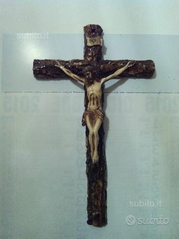 Crocifisso antico gesu legno lavorato a mano