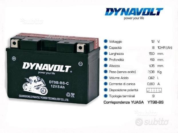 Batteria dynavolt dt9b-bs-c 12v 7.5ah MOTO YAMAHA