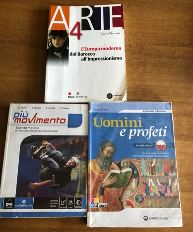 Libri scuola superiore Arte, Ed.Fisica, Religione
