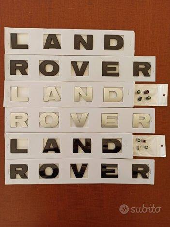 Scritte originali per LAND ROVER tutte e DISCOVERY