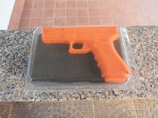 Orange plastic trainig glock