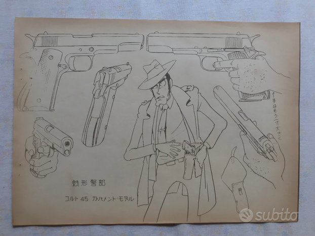 Settei originale giapponese Lupin 3rd Monkey Punch
